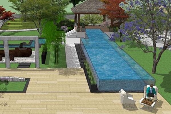 青岛印象金沙滩别墅泳池